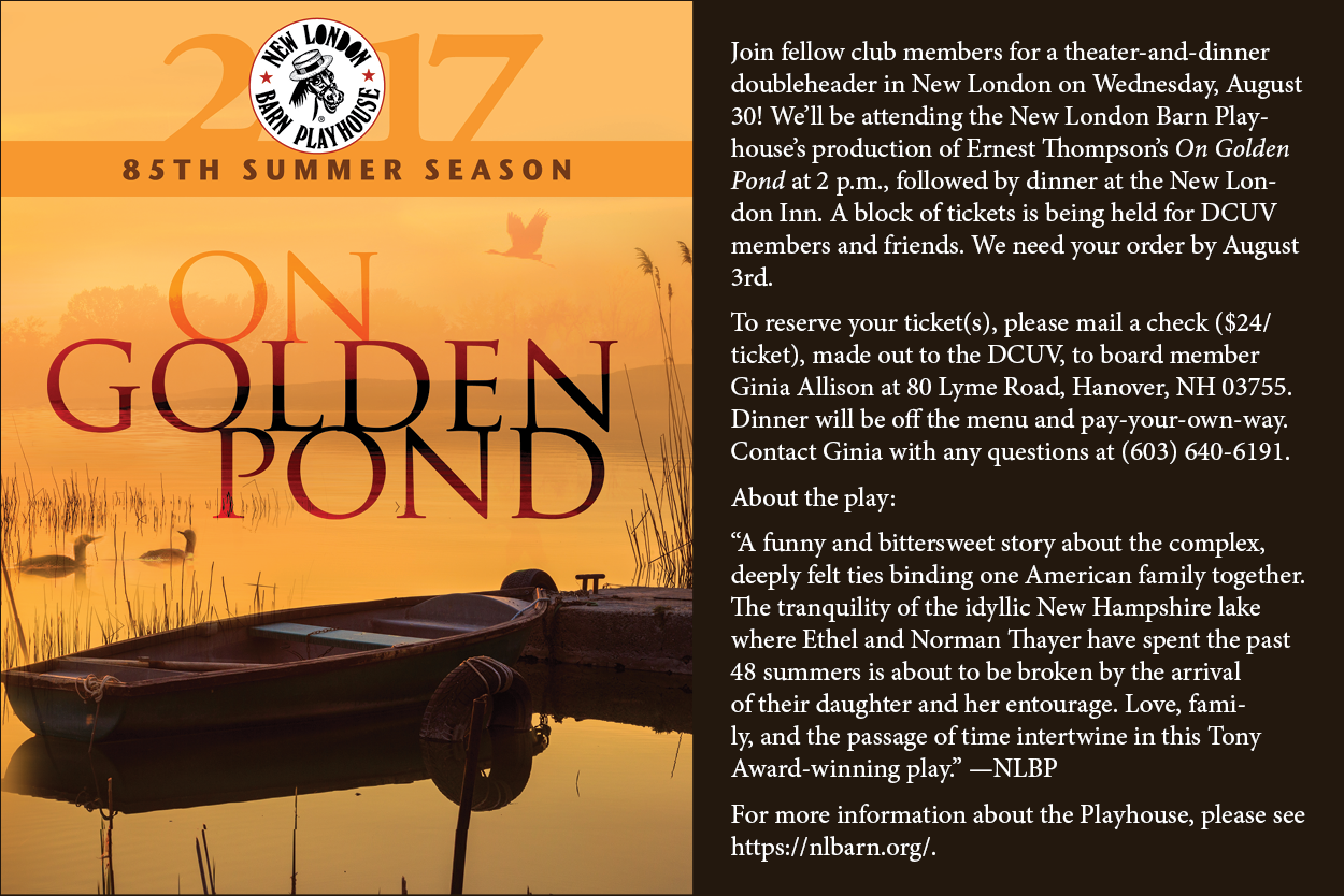 Event poster for On Golden Pond.