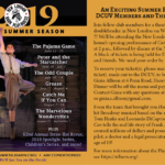 Flyer for 2019 DCUV event at the New London Barn Playhouse