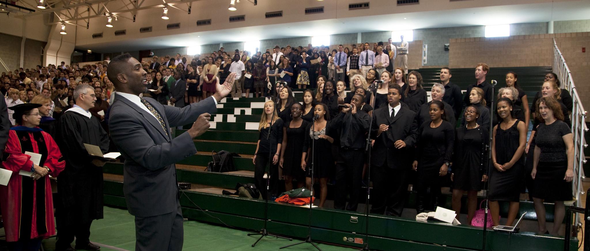 The Dartmouth Gospel Choir, under the direction of Walt Cunningham